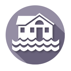 Home flooding icon