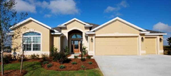 Exterior of a Suburban House in Florida