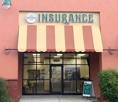 Front entrance and awning to the Villages Insurance Southern Trace office