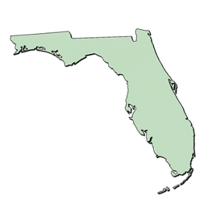 map view of the state of Florida
