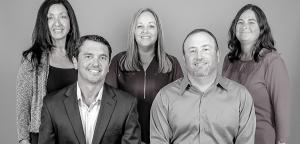 Group photo of Commercial Risk Management Group 3 women, 2 men