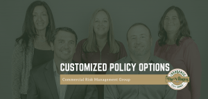 Group picture of Commercial Risk Management Group. Two men and three women
