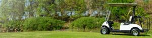 Golf Car on Golf Course