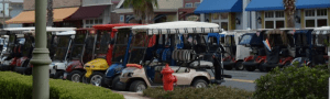 Golf cars in the Villages, FL