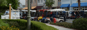 Golf carts in the Villages, FL