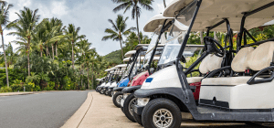 Golf Cars in tropics